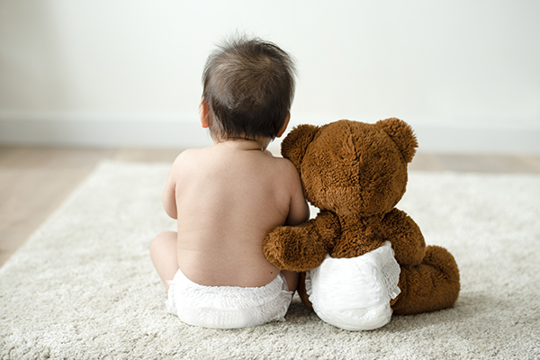 bebe pañal