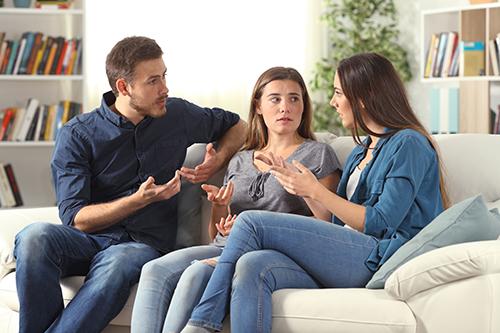adolescentes con padres